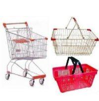 Корзины,тележки, стойки для распродаж